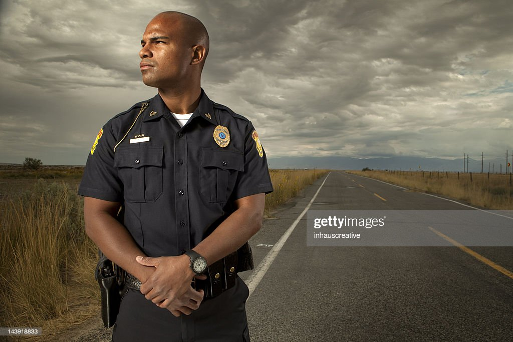 Portrait of a Police Officer : Stock Photo