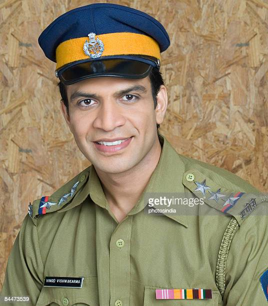 Portrait of a policeman smiling