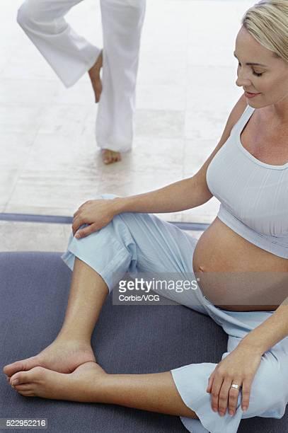 Portrait of a Pregnant Woman Meditating