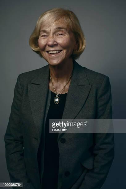 Portrait of a pretty senior woman laughing