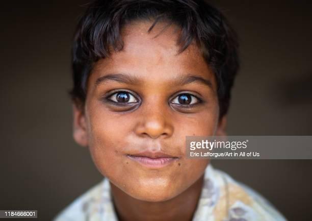 Portrait of a rajasthani boy Rajasthan Jaisalmer India on July 22 2019 in Jaisalmer India