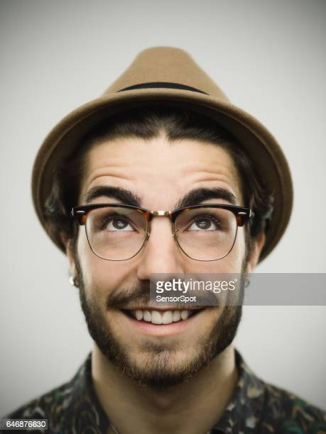 portrait of a real smiling man - southern european descent stock pictures, royalty-free photos & images