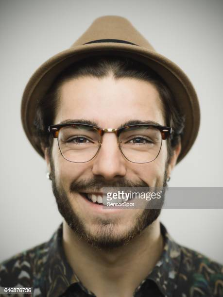 Portrait of a real smiling man