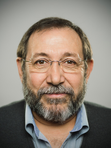 Portrait of a real spanish man with glasses and beard. - gettyimageskorea