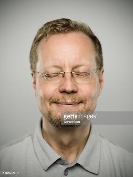 Porträt von einem echten schwedische Mann.