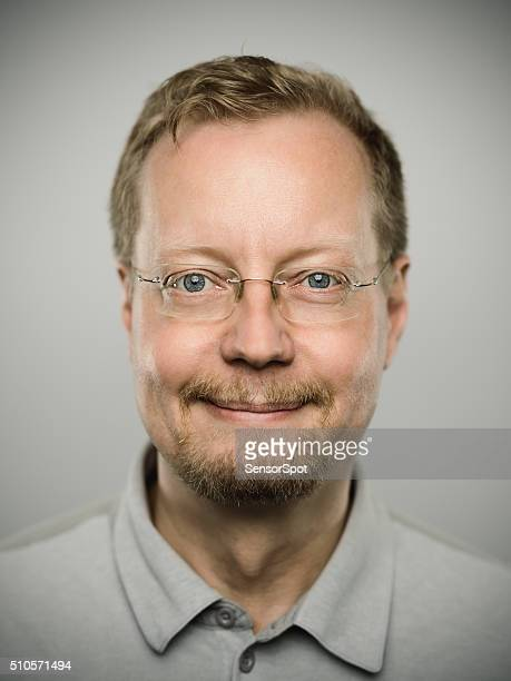 Portrait of a real swedish man.