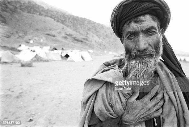 Portrait of a refugee in the camp of Anoba
