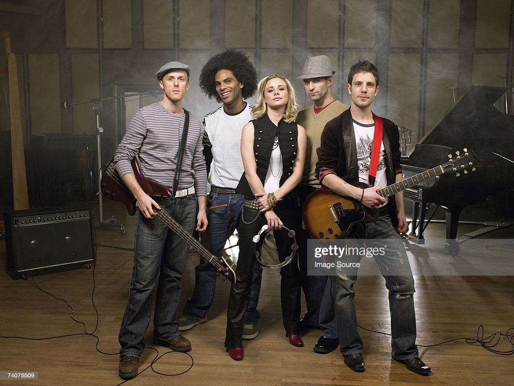 Portrait of a rock band : Stock Photo