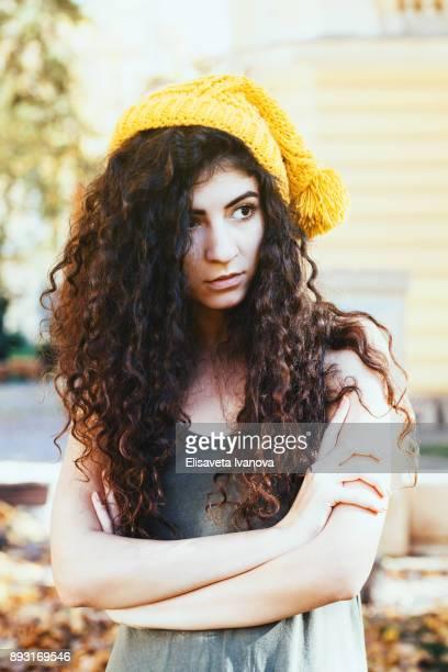 Portrait of a sad teenage girl