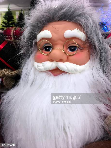 Portrait of a Santa Claus puppet in a store
