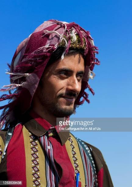 Portrait of a saudi man wearing a keffiyeh, Jizan province, Addayer, Saudi Arabia on January 17, 2010 in Addayer, Saudi Arabia.