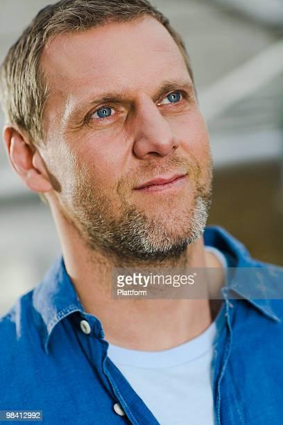 Portrait of a Scandinavian man.