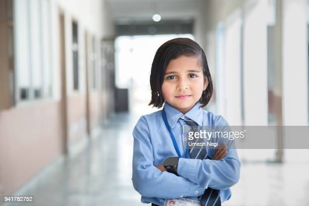 Portrait of a school girl smiling