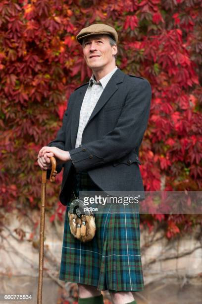 portrait of a scotchman - kilt stock photos and pictures