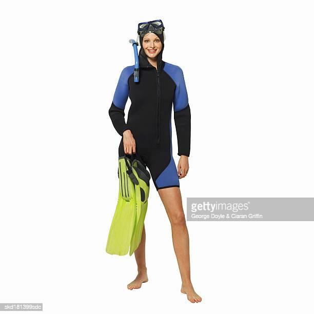 portrait of a scuba diver - traje de mergulho - fotografias e filmes do acervo