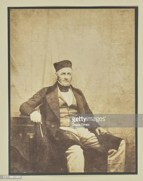 Portrait of a Seated Man; Hippolyte Bayard ; about 1840 - 1849; Salted paper print; 16.2 x 12.3 cm .