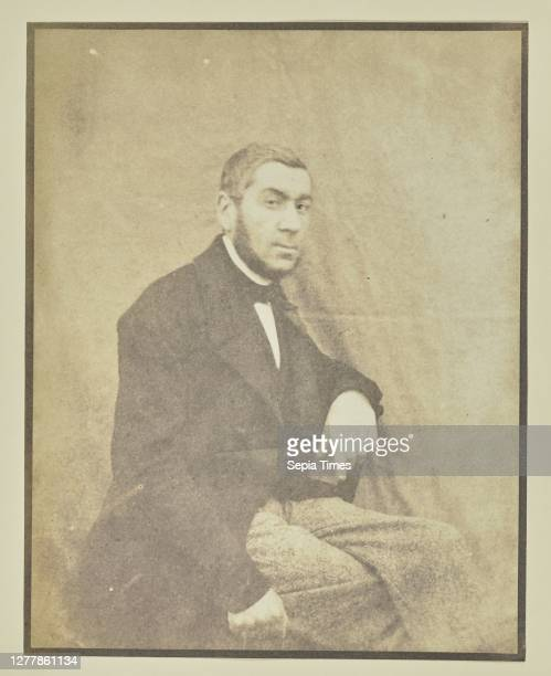 Portrait of a Seated Man; Hippolyte Bayard ; about 1840 - 1849; Salted paper print; 16.5 x 12.9 cm .