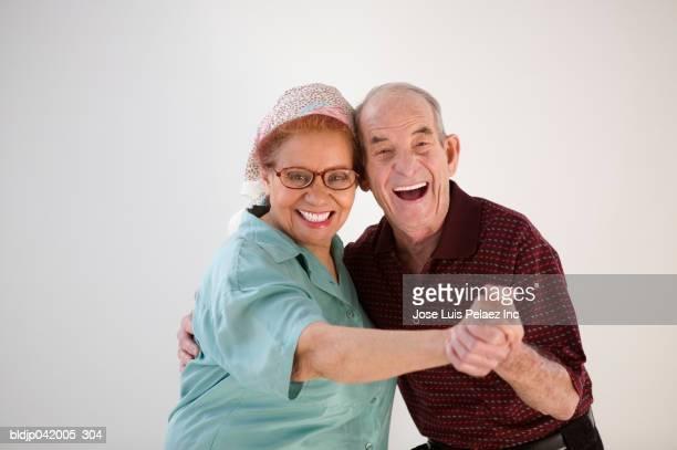 Portrait of a senior couple dancing