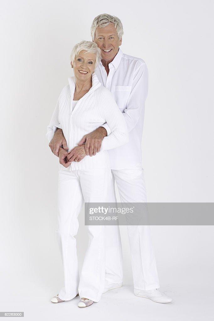 Portrait of a senior couple, full length : Stock Photo