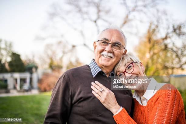 portrait of a senior couple. - senior couple stock pictures, royalty-free photos & images