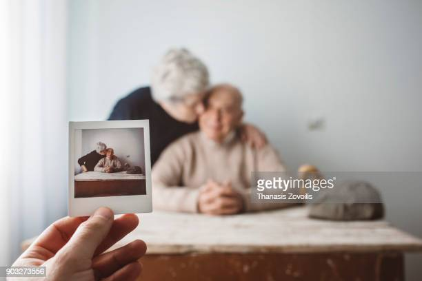 portrait of a senior couple - memories stock pictures, royalty-free photos & images