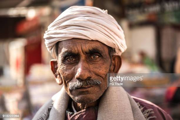 portrait of a senior indian man - indian culture stock pictures, royalty-free photos & images