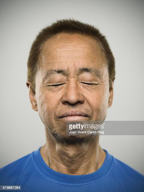 Portrait of a senior japanese man.