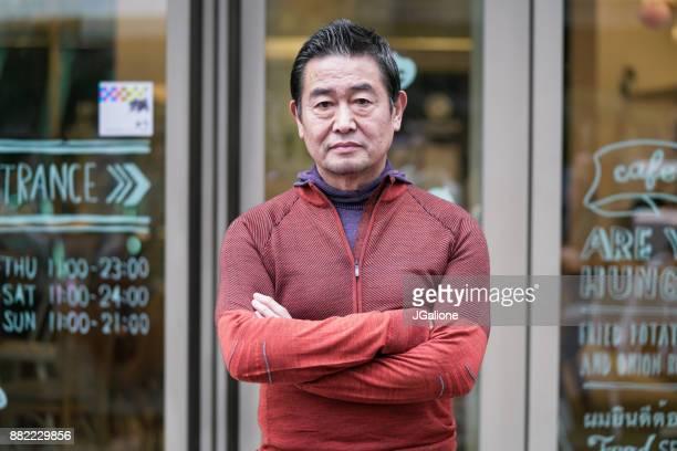 の肖像、日本の老人男性