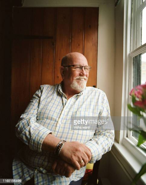 Portrait of a senior man from the LGBT community
