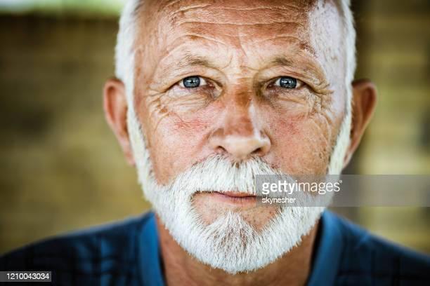 porträt eines älteren mannes. - serbien stock-fotos und bilder
