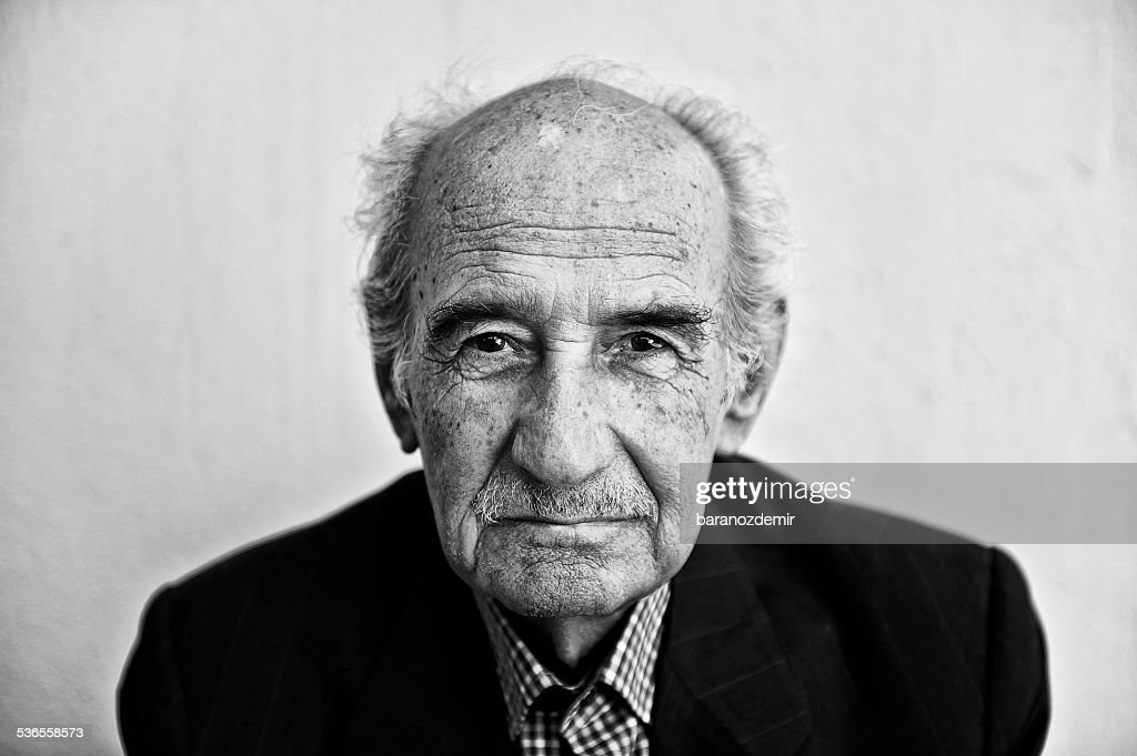 Portrait of a senior man ninety year old