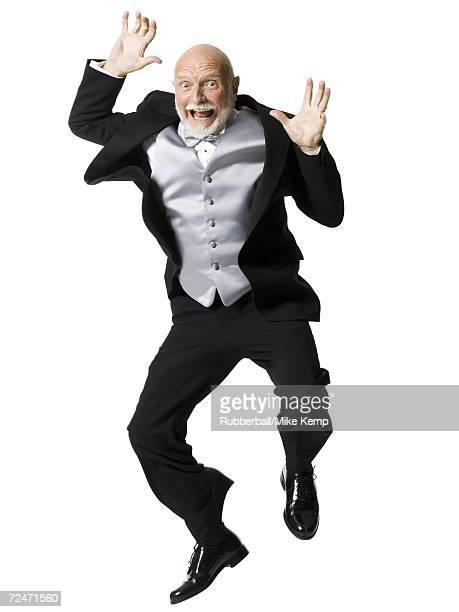 Portrait of a senior man shouting