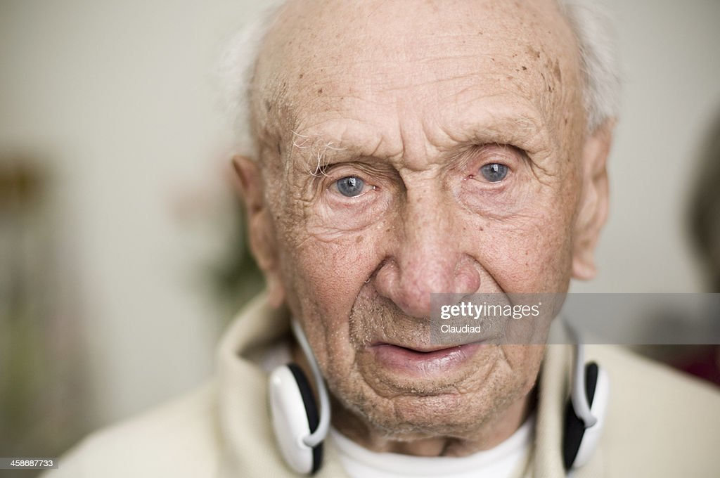 Portrait of a senior over 100 years old : Stock Photo