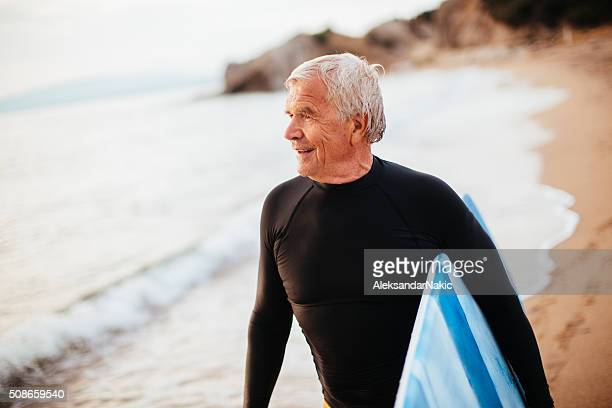 Portrait of a senior surfer