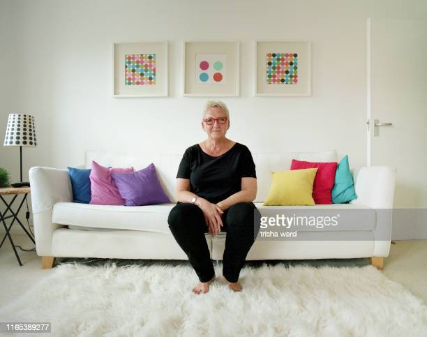 portrait of a senior woman from the lgbt community - hove stock pictures, royalty-free photos & images