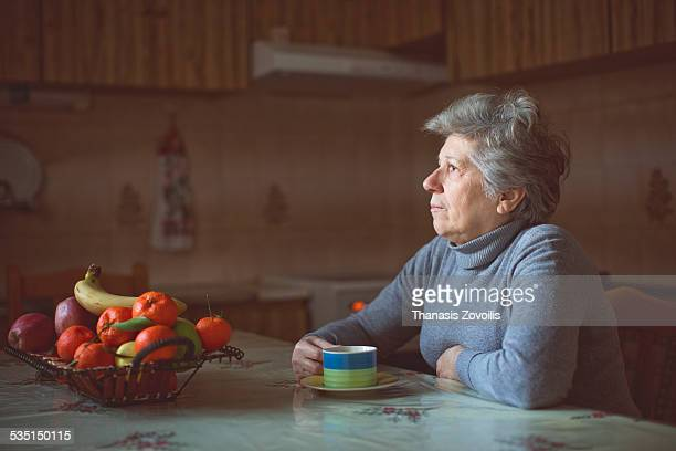 portrait of a senior woman - loneliness stock pictures, royalty-free photos & images
