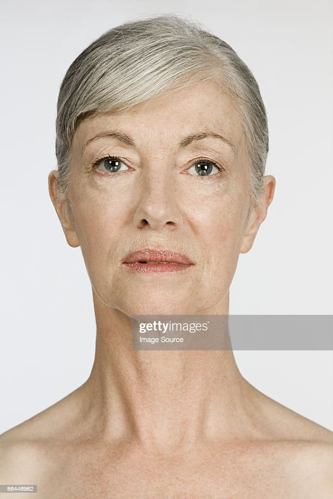 Portrait of a senior woman : Stock Photo