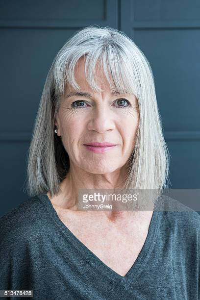 Portrait of a senior woman with a grey bob