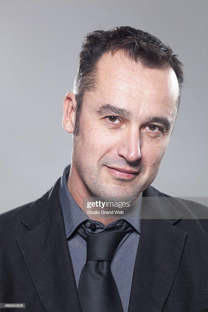 Retrato de un empresario sereno : Foto de stock
