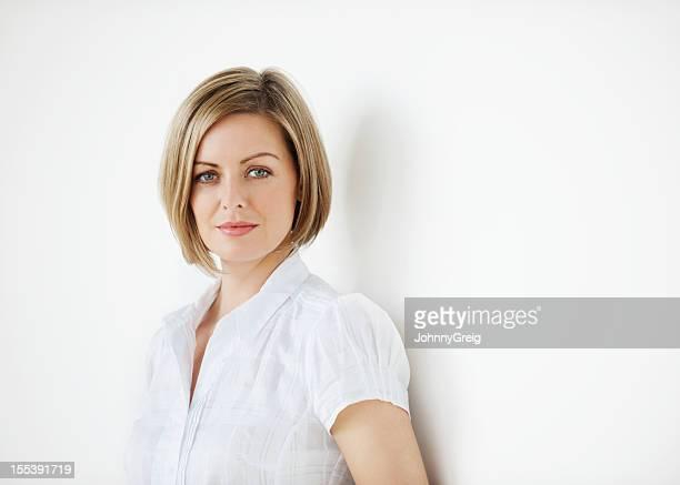 Porträt einer schweren Geschäftsfrau