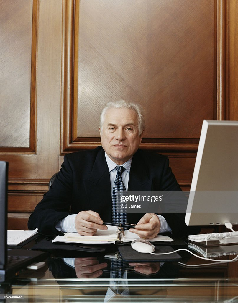 Portrait of a Serious Looking CEO : Stock Photo