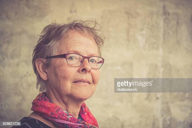 Portrait of a Serious Senior Woman, Paris, France