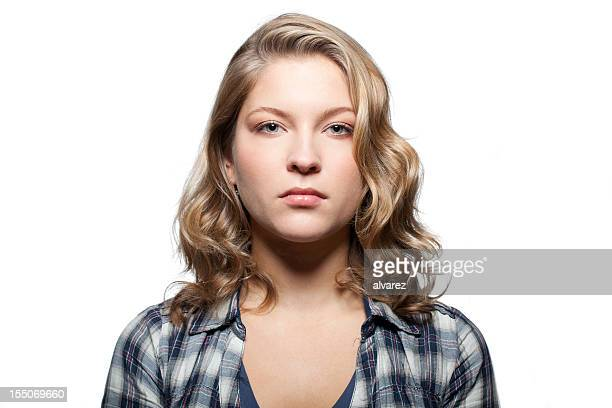 portrait of a serious woman - one young woman only stock pictures, royalty-free photos & images