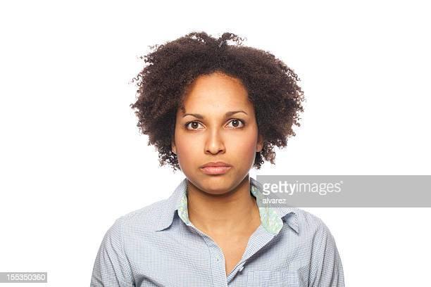Portrait of a serious woman