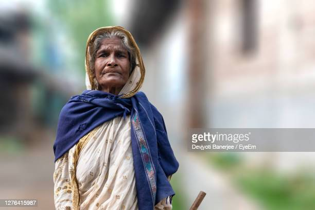 portrait of a serious young woman - indigenous culture stock pictures, royalty-free photos & images