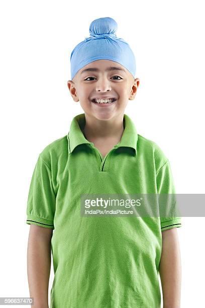 Portrait of a Sikh boy