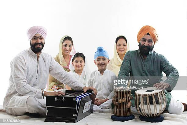 Portrait of a Sikh family