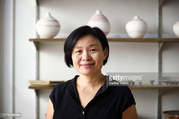 portrait of a singaporean woman in her store - east asian culture stock pictures, royalty-free photos & images