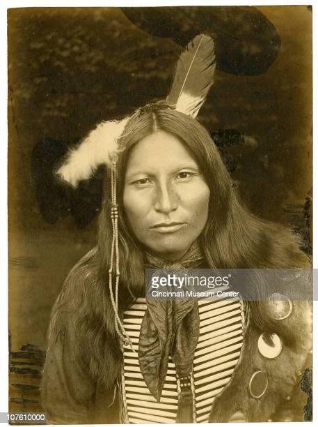 Portrait of a Sioux man taken at the Cincinnati Zoo Cincinnati OH 1896