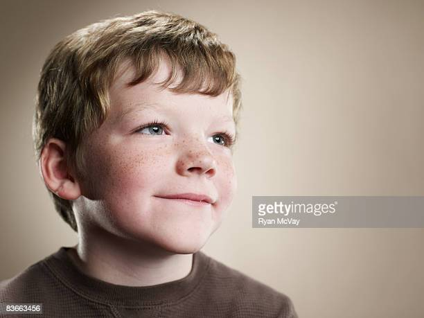 portrait of a six year old boy. - seven stock pictures, royalty-free photos & images